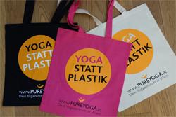 Yoga statt Plastik Taschen bei PUREYOGA