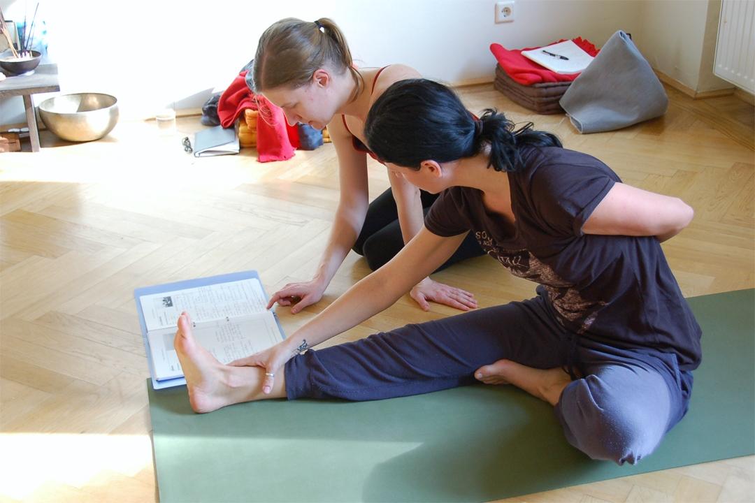 Yogalehrer Ausbildung - Studium der Asanas
